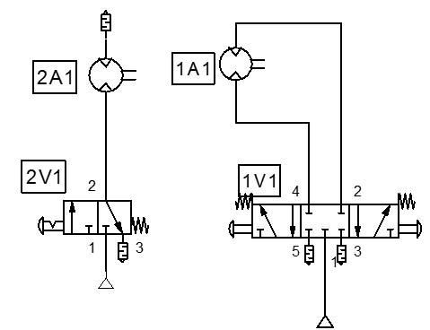 Controling pneumatic motor