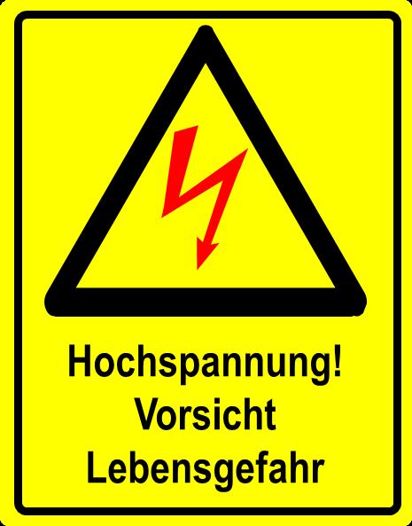 Elektrofachkraft Elektrosicherheit-Vorsicht Hochspannung