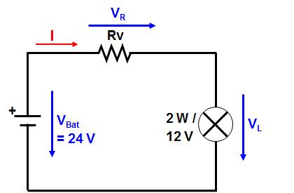 Calcule o resistor em série